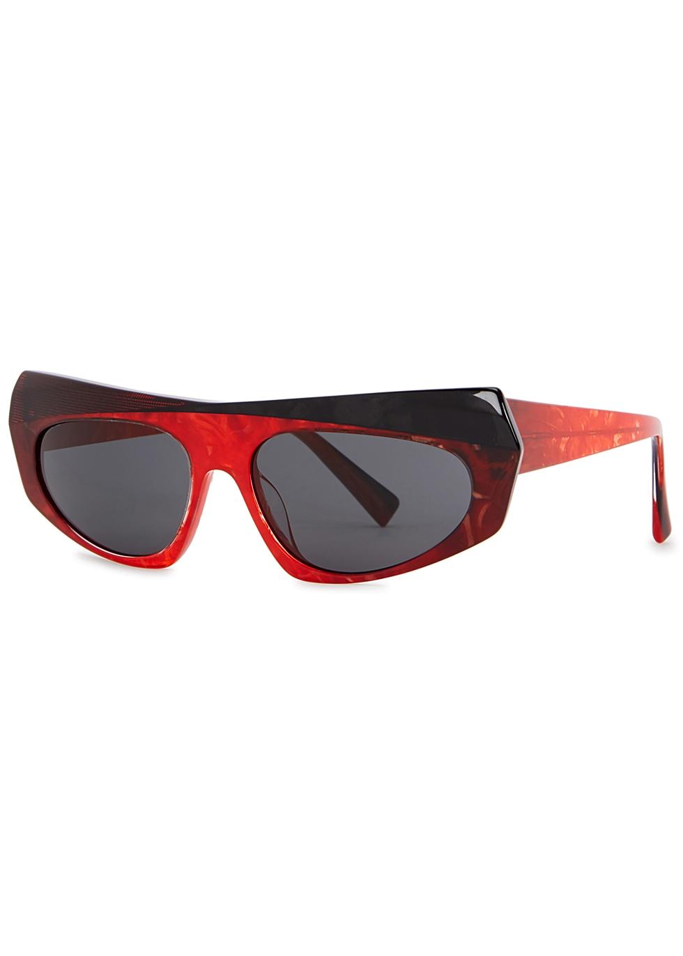 ALAIN MIKLI Pose Red Marbled Sunglasses