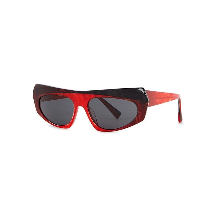 1693e0d231 ALAIN MIKLI Pose Red Marbled Sunglasses