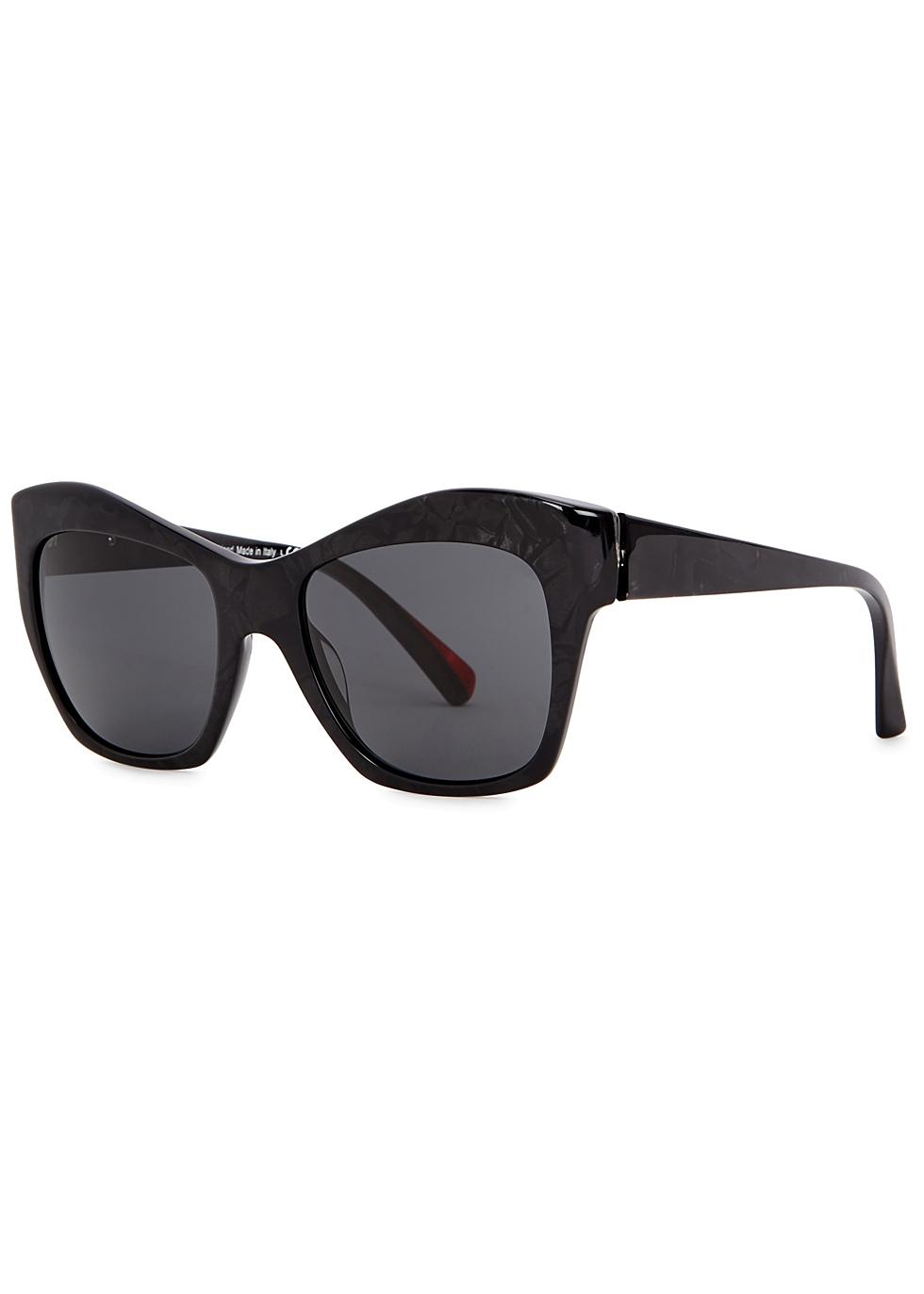ALAIN MIKLI Nuages Black Marbled Sunglasses