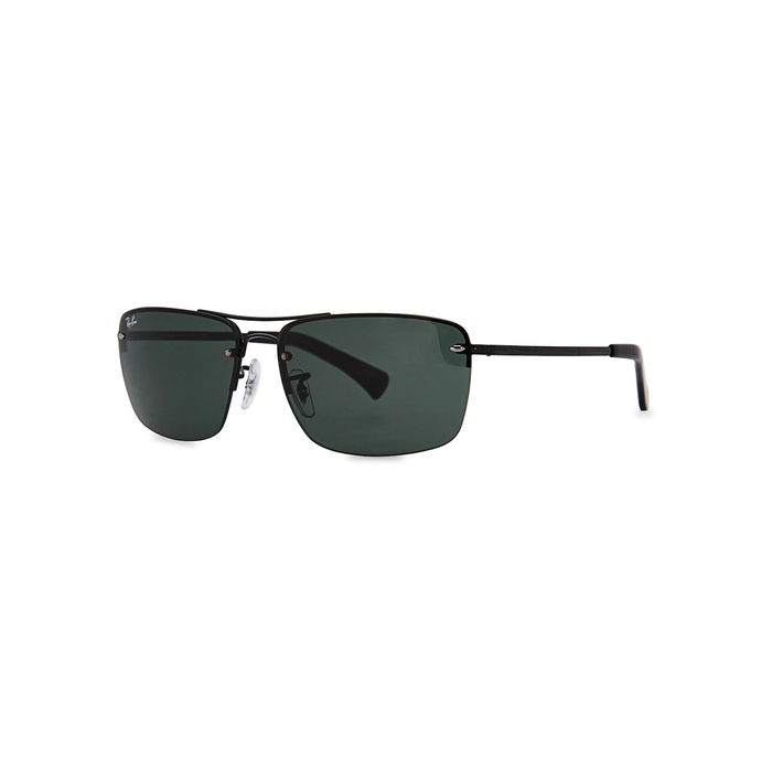 Ray-Ban Black Oval-frame Sunglasses