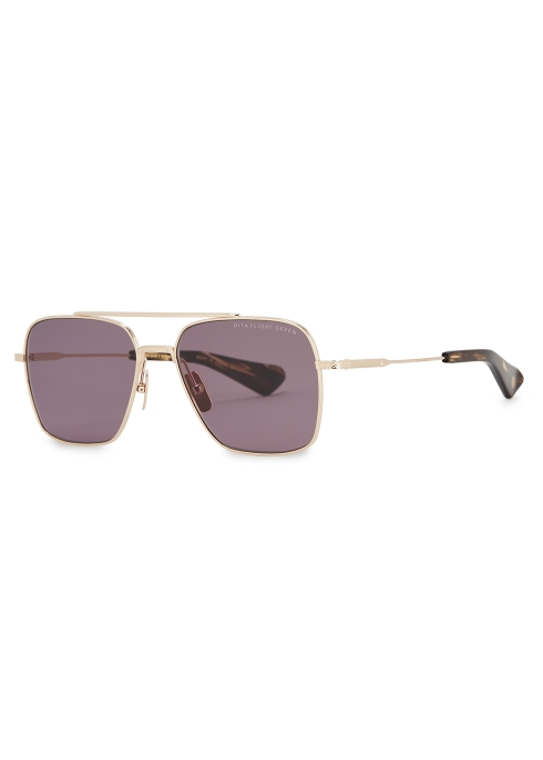 007a595c5634 DITA Flight-Seven aviator-style sunglasses - Harvey Nichols