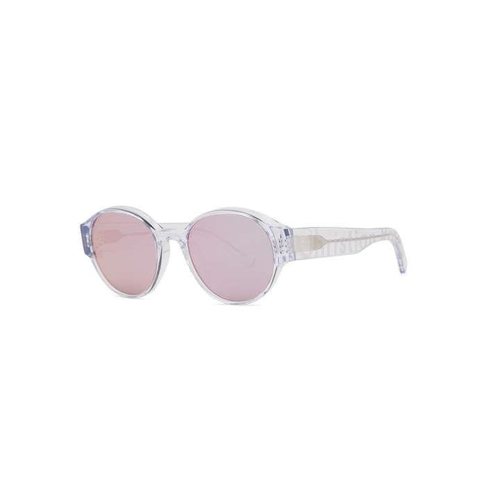 Christian Roth Textuelle Transparent Mirrored Sunglasses