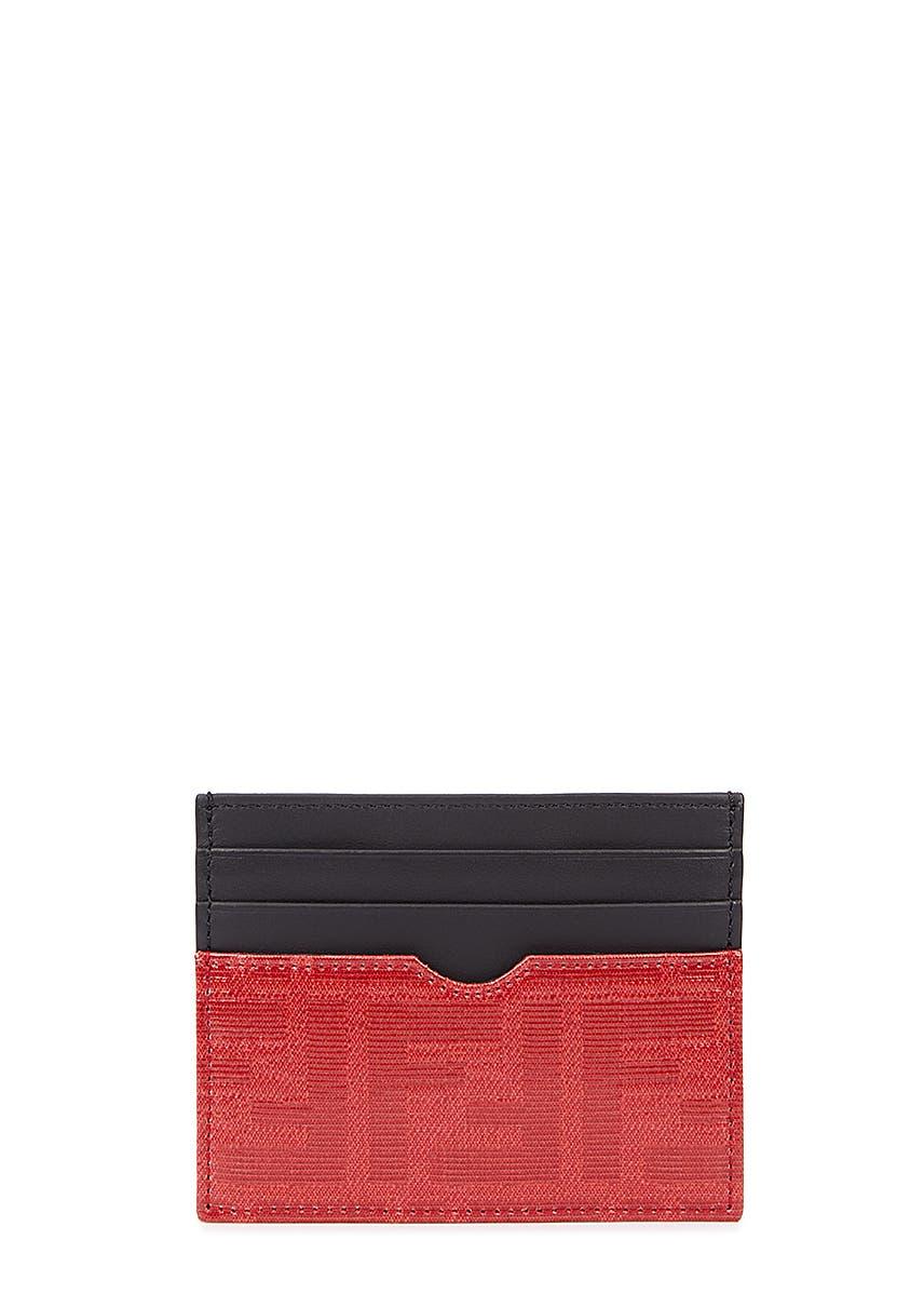 32e5cbd4b63 Black leather card holder ...