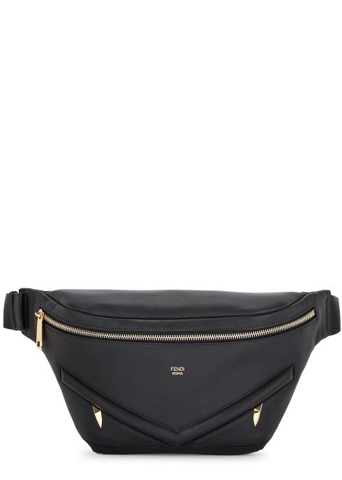 8e27cc1cc512 Fendi Monster black leather belt bag - Harvey Nichols