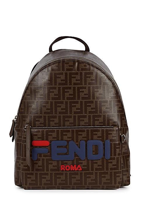 ff86b8ce60 Fendi X Fila monogrammed backpack - Harvey Nichols