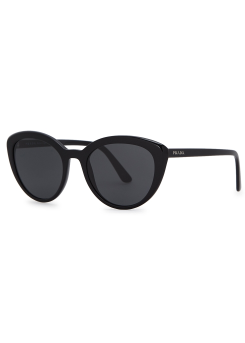 34e45ac5ad39 Prada Black cat-eye sunglasses - Harvey Nichols