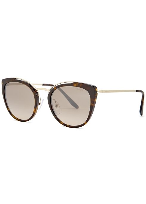cd6c9bc32b2 Prada Tortoiseshell cat-eye sunglasses - Harvey Nichols