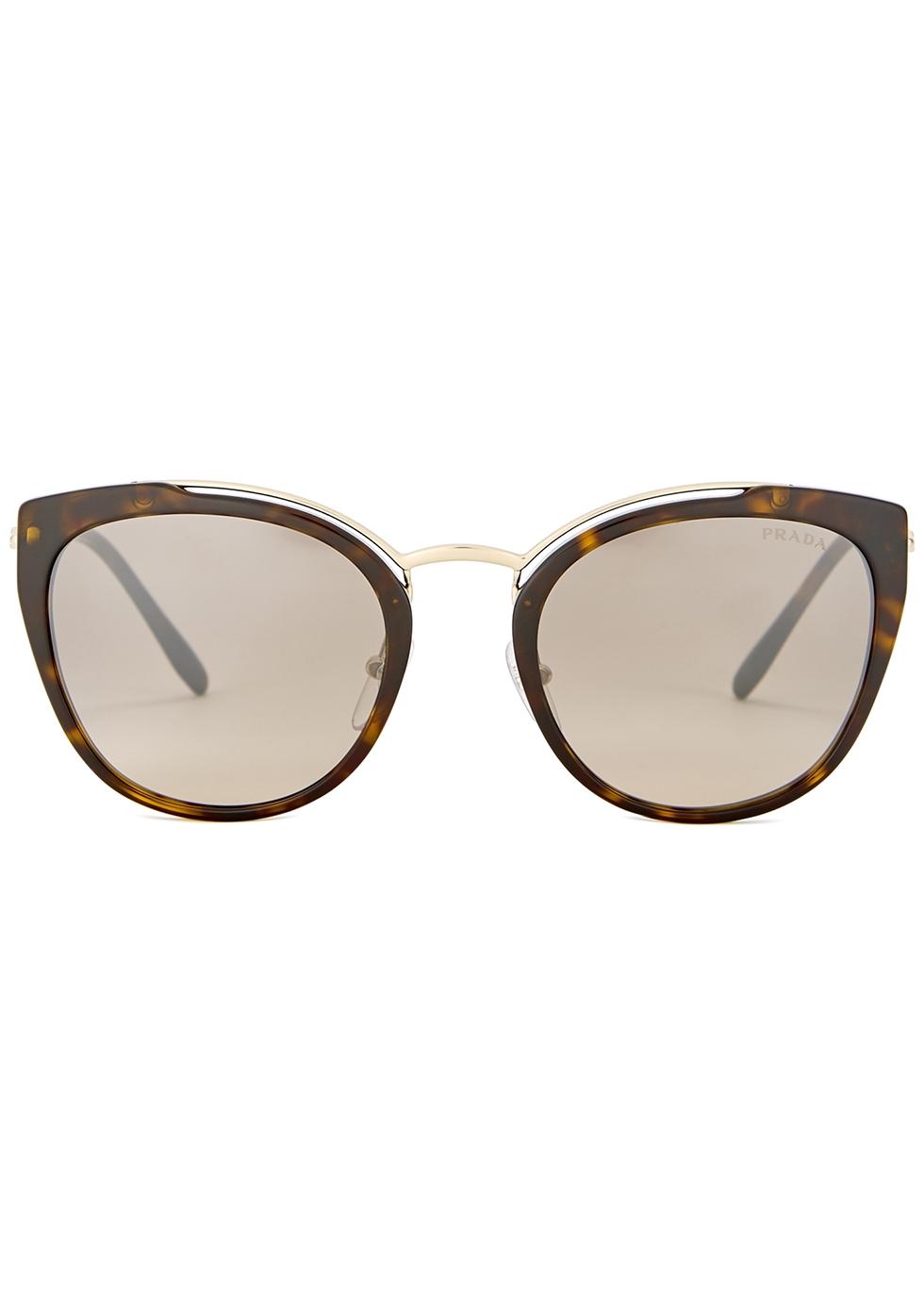 Tortoiseshell cat-eye sunglasses - Prada