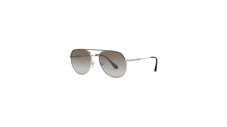 9b230bf160 Prada Silver-tone aviator-style sunglasses - Harvey Nichols
