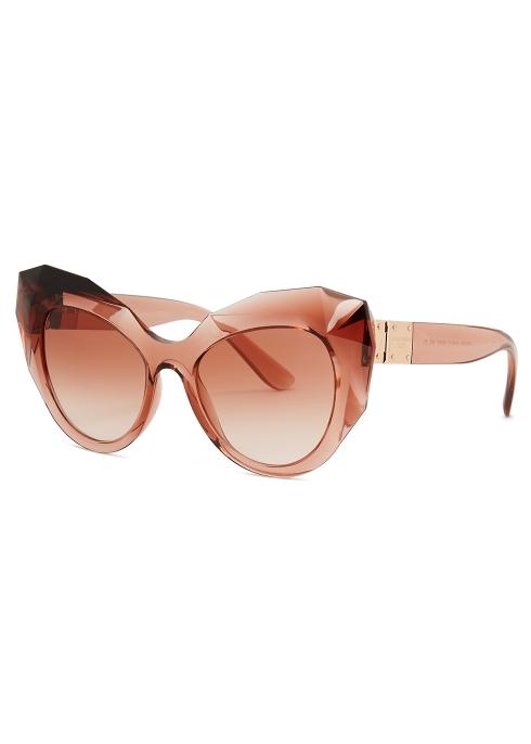 629f0340e7 Dolce   Gabbana Transparent pink cat-eye sunglasses - Harvey Nichols
