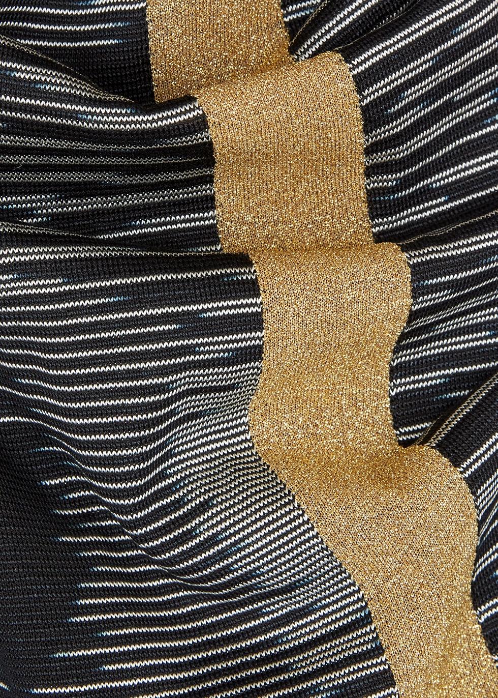 Black and gold metallic-knit lamé trousers - M Missoni