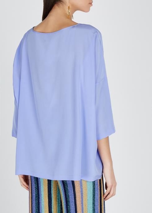 f2684b41750 M Missoni Periwinkle silk crepe de chine top - Harvey Nichols