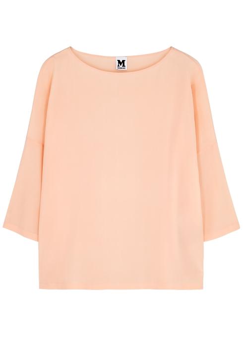 da84d9c3673 M Missoni Light peach silk crepe de chine top - Harvey Nichols