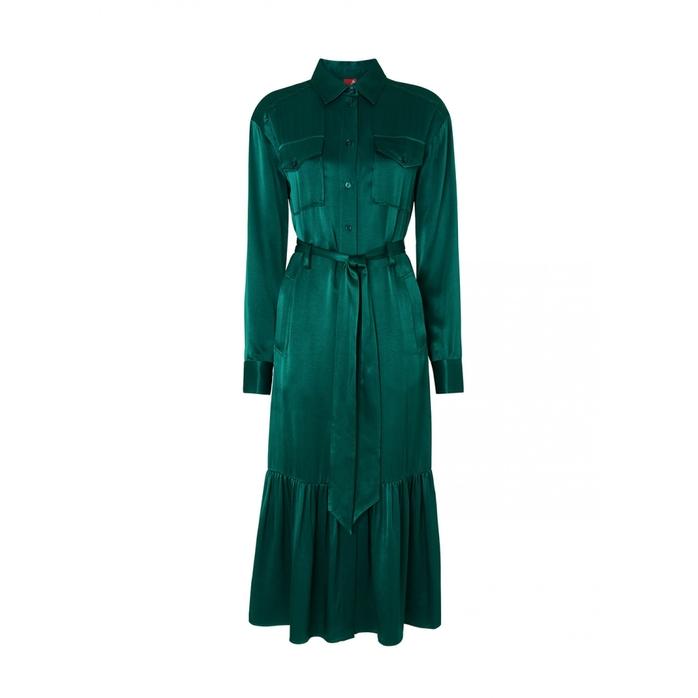 Kitri ELOISE SATIN SHIRT DRESS
