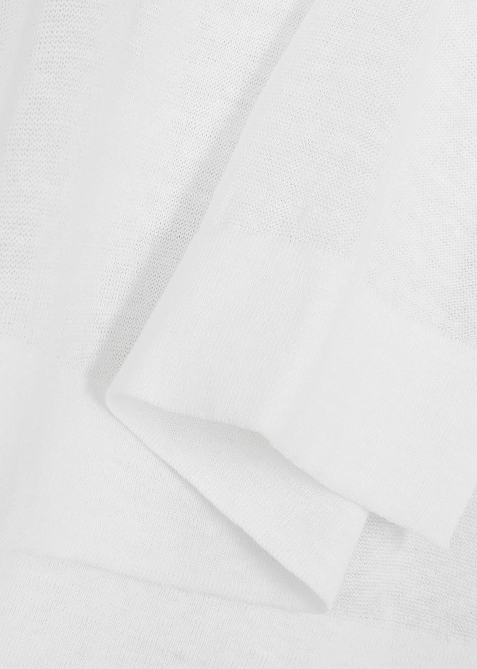 Calipso white linen-blend jumper - Max Mara Studio