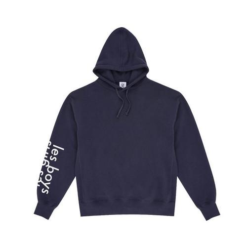 LES GIRLS LES BOYS | Les Girls Les Boys Hooded Sweatshirt - Big Reflective Logo | Goxip