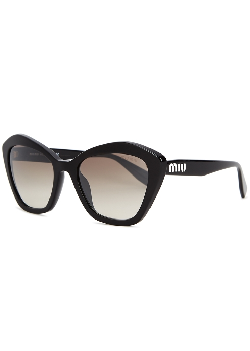 2667a4a49d Miu Miu Black cat-eye sunglasses - Harvey Nichols