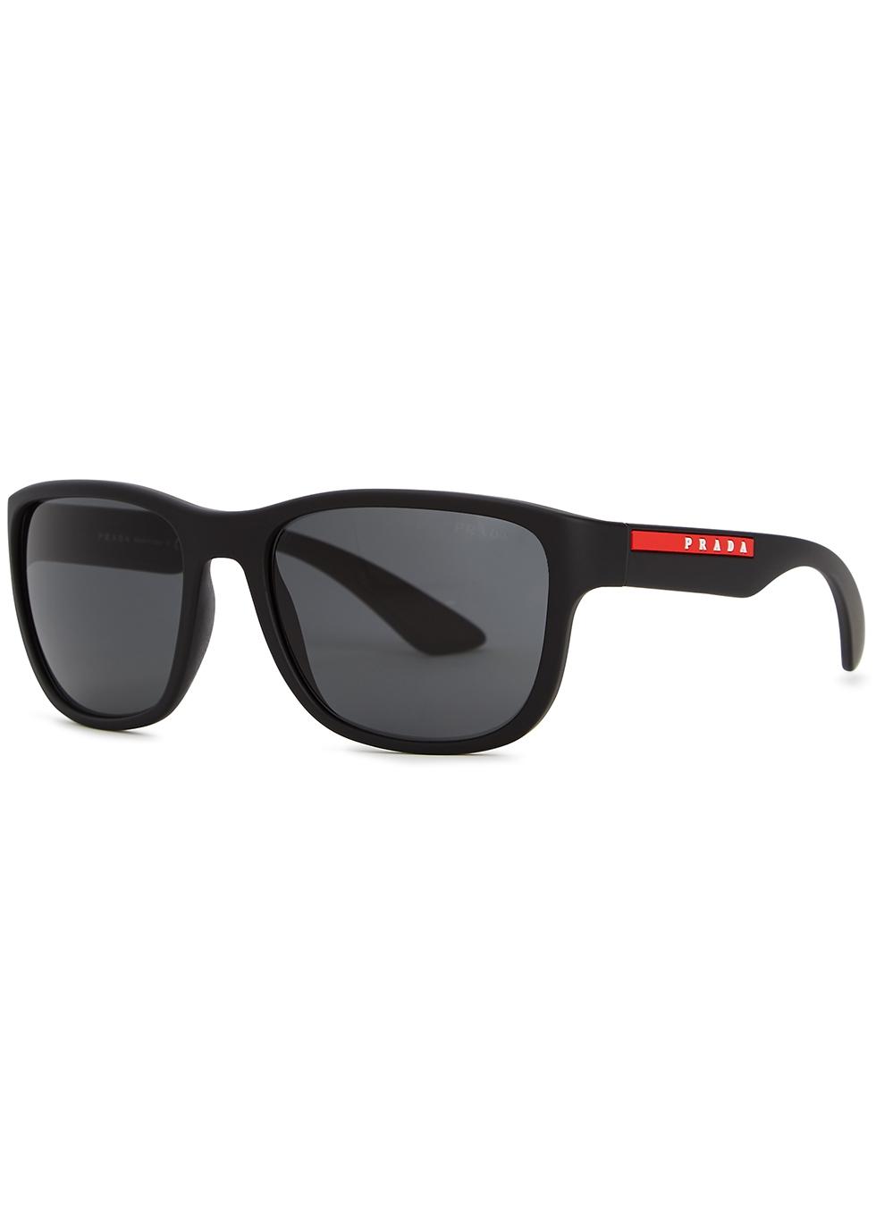 77ceaaa857d9 172.50 1f459 c6bba  czech linea rossa black square frame sunglasses. prada  linea rossa ea3cd db95b