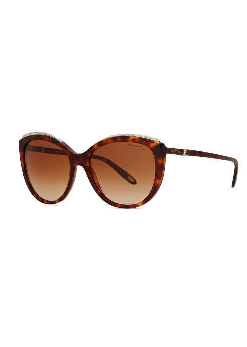 85859465bc TIFFANY Tortoiseshell acetate cat-eye sunglasses - Harvey Nichols