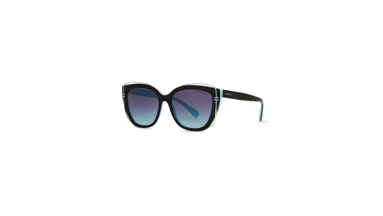 b8dee64133a1 TIFFANY Black cat-eye sunglasses - Harvey Nichols