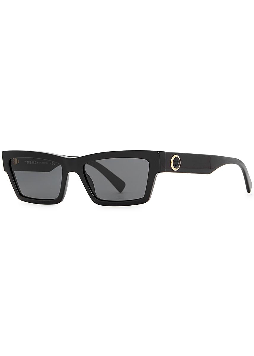 cb166961c93e Black rectangle-frame sunglasses