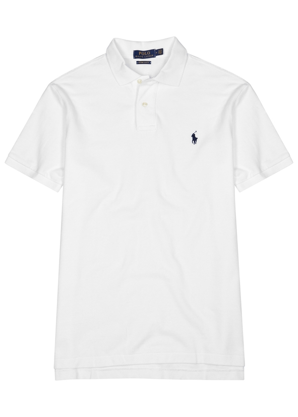 White slim piqué cotton polo shirt White slim piqué cotton polo shirt. Polo  Ralph Lauren 98616e8b34