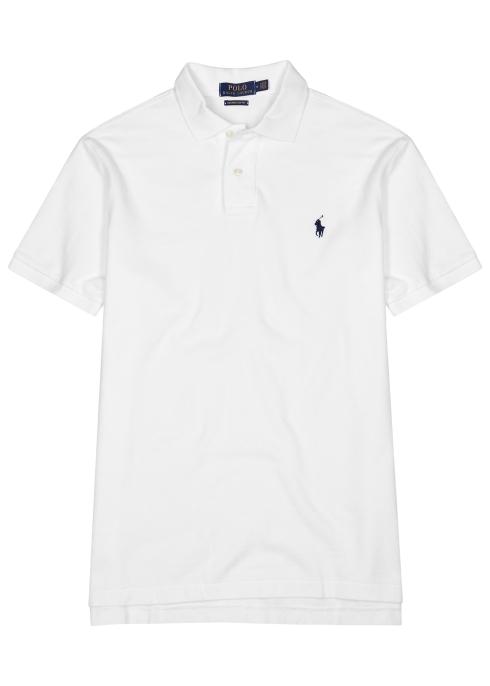 37b87cbae Polo Ralph Lauren White slim piqué cotton polo shirt - Harvey Nichols