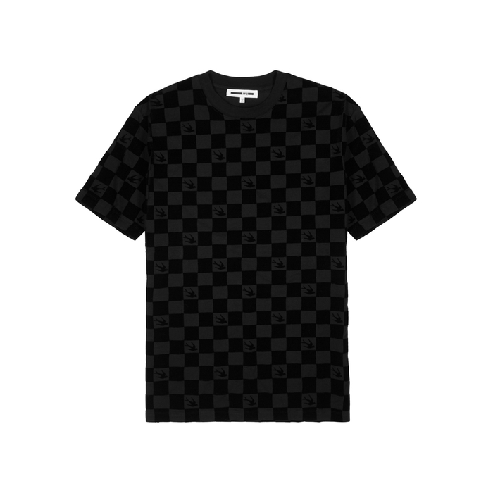 McQ Alexander McQueen Racer Flocked Cotton T-shirt