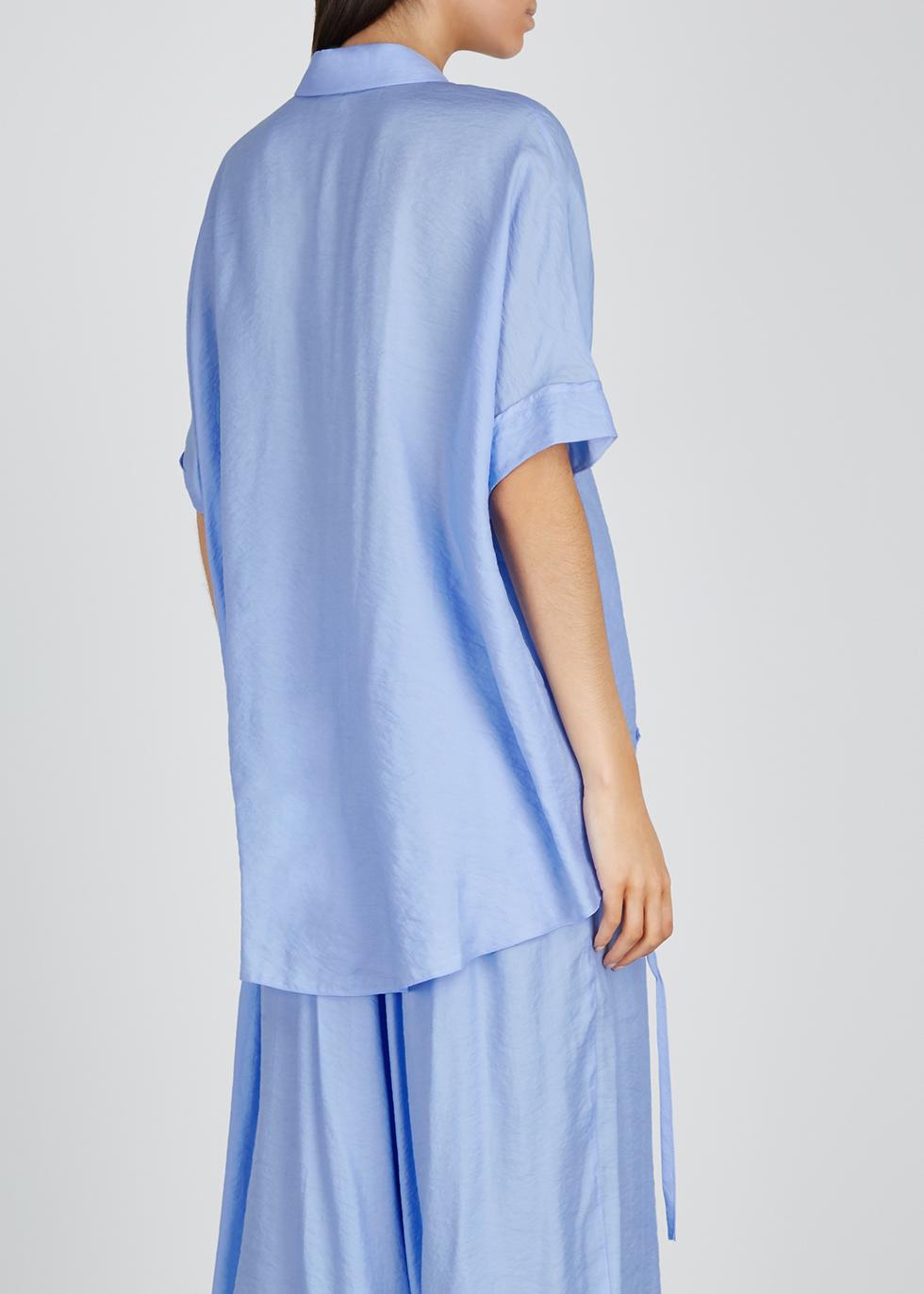 Light blue drawstring shirt - Crea Concept