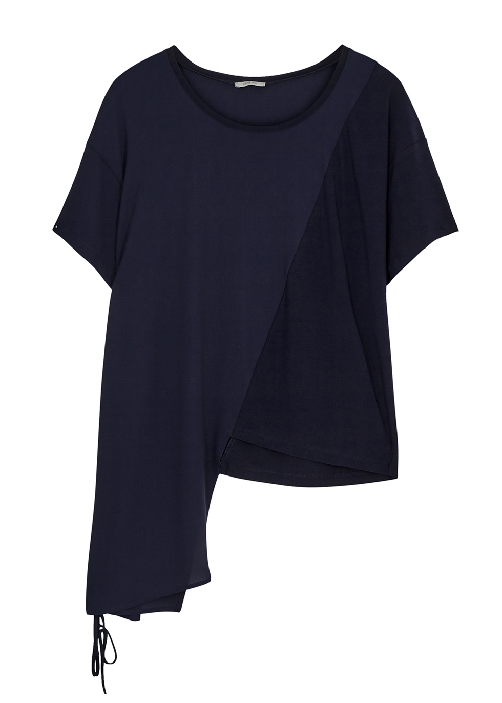 Navy panelled ruched top - Crea Concept