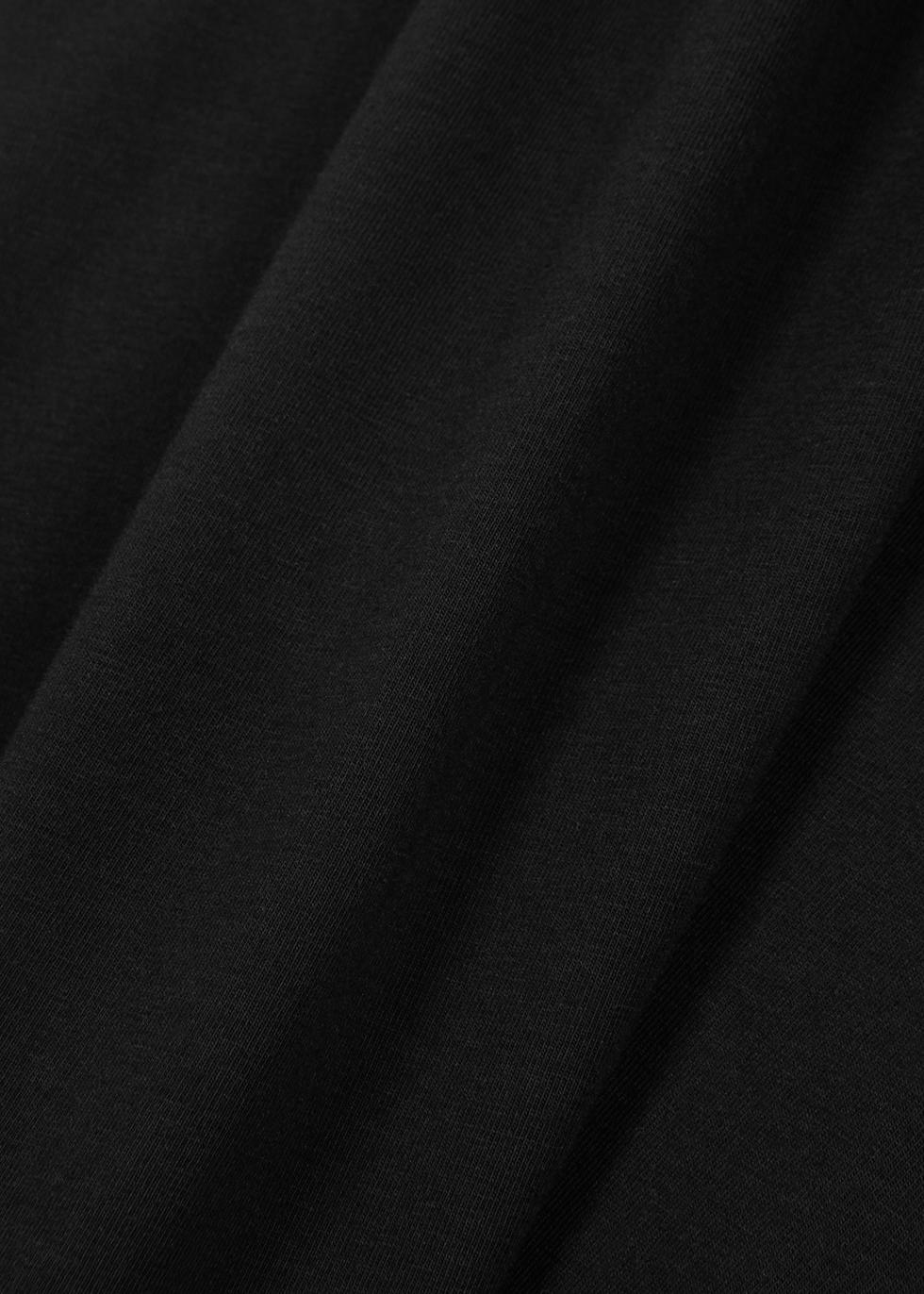 Black stretch-cotton top - Crea Concept