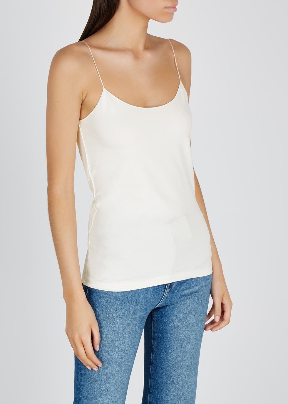 Off-white stretch-cotton top - Crea Concept