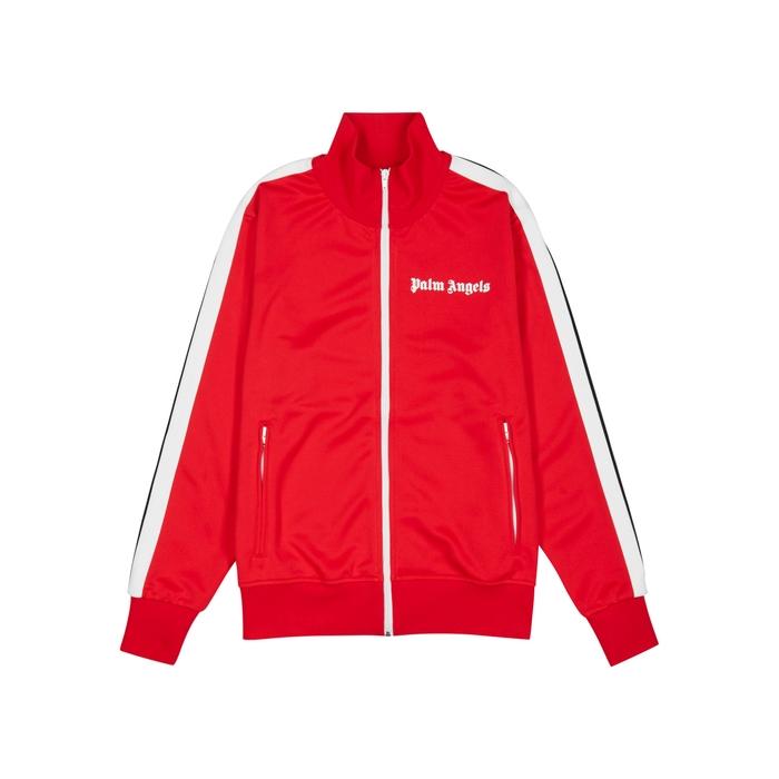 Palm Angels Red Striped Jersey Jacket