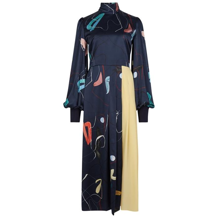 Roksanda AYVA PRINTED SILK DRESS