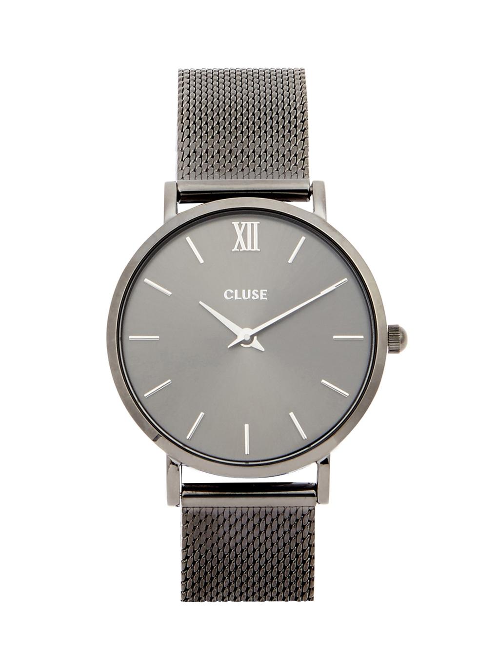 CLUSE Minuit Gunmetal Watch in Grey