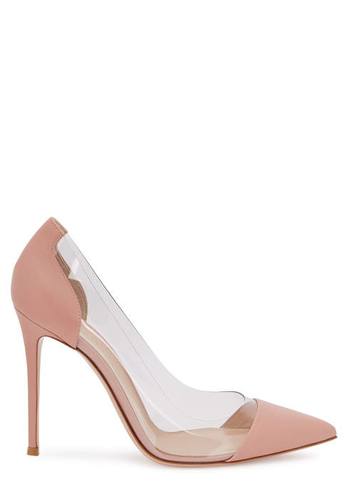 bbb5b777d72 Gianvito Rossi Plexi 105 pink leather and Perspex pumps - Harvey Nichols