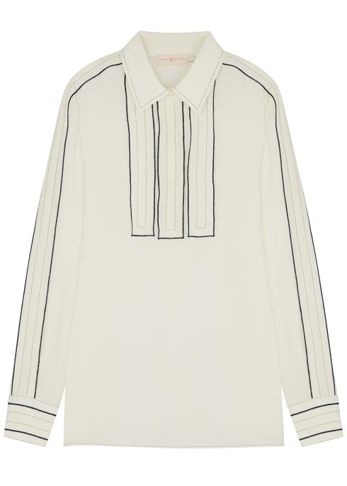 6b3289c7c1114 Tory Burch Ivory silk blouse - Harvey Nichols