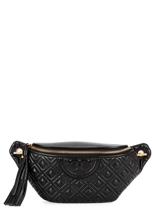 1b5841b712d2 Tory Burch Fleming black leather belt bag - Harvey Nichols