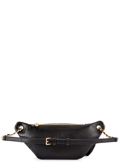 b97f22639c26 Tory Burch Fleming black leather belt bag - Harvey Nichols