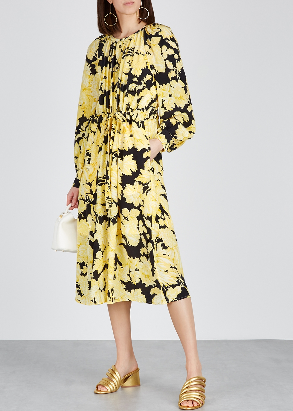 Lydia floral-print silk midi dress - Stine Goya