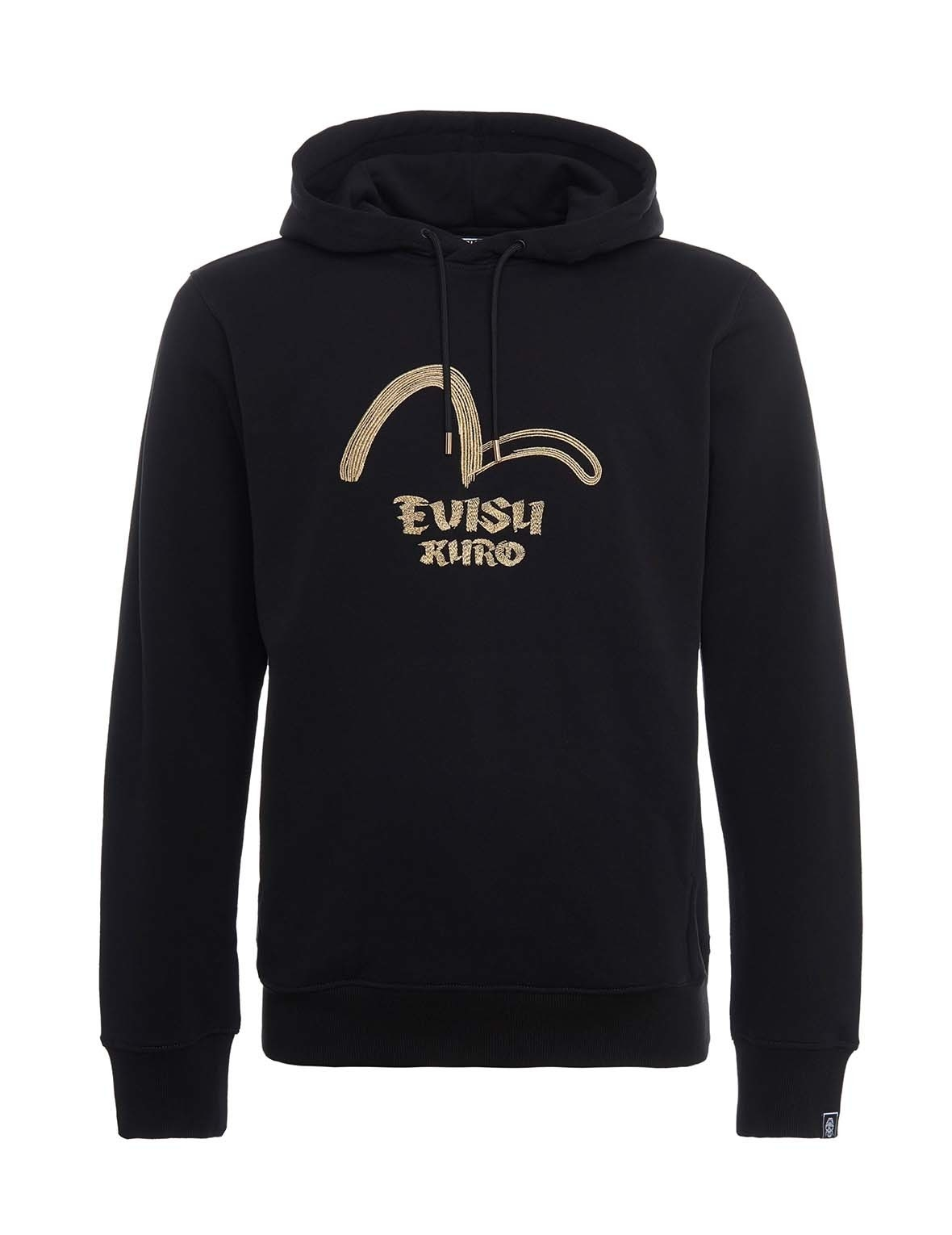 EVISU Hannya Skull K Embroidered Hooded Sweatshirt