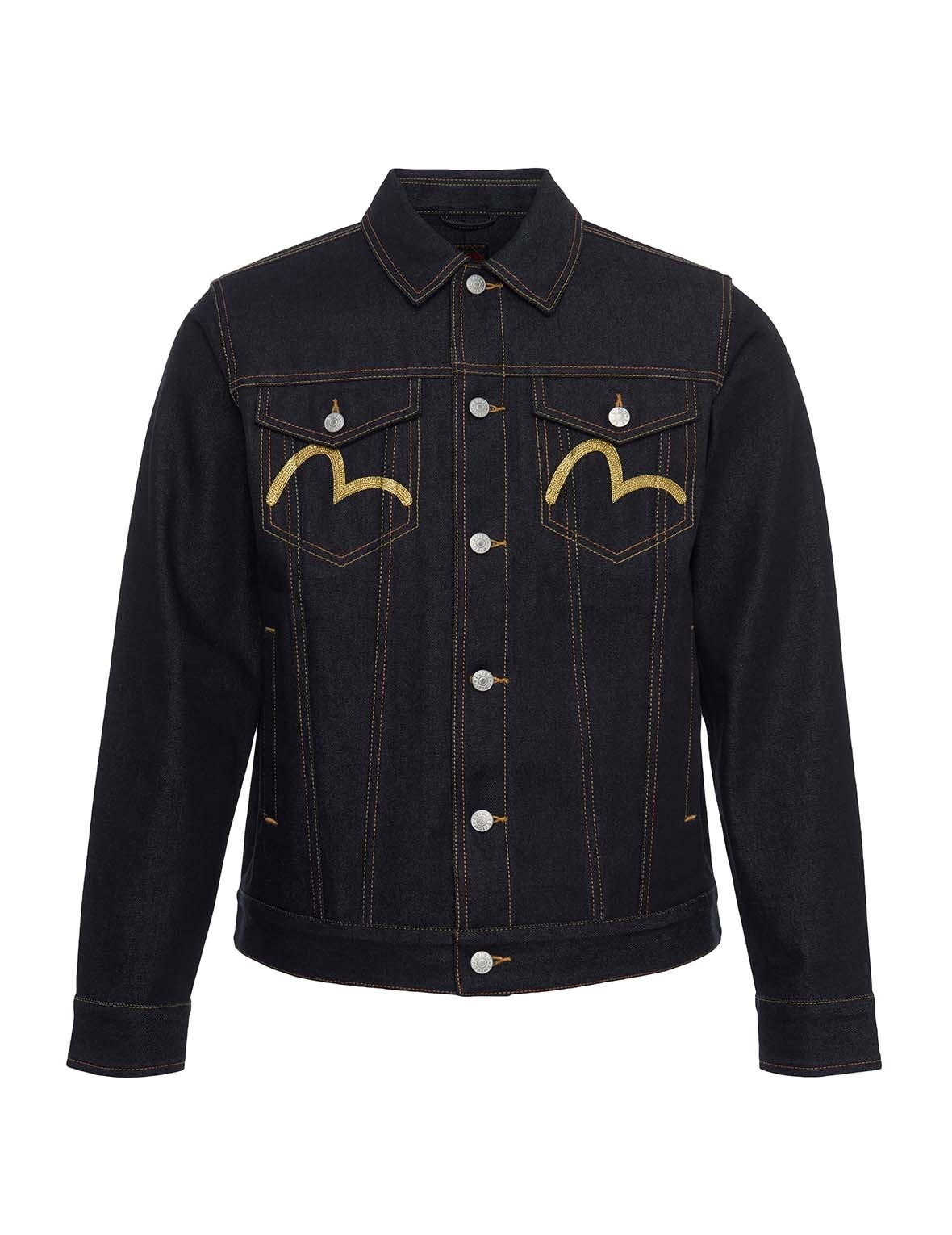 EVISU Dragon Head Embroidered Denim Jacket