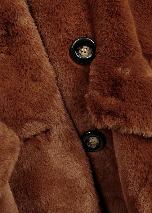 283b054d626c Free People Kate brown faux-fur coat - Harvey Nichols