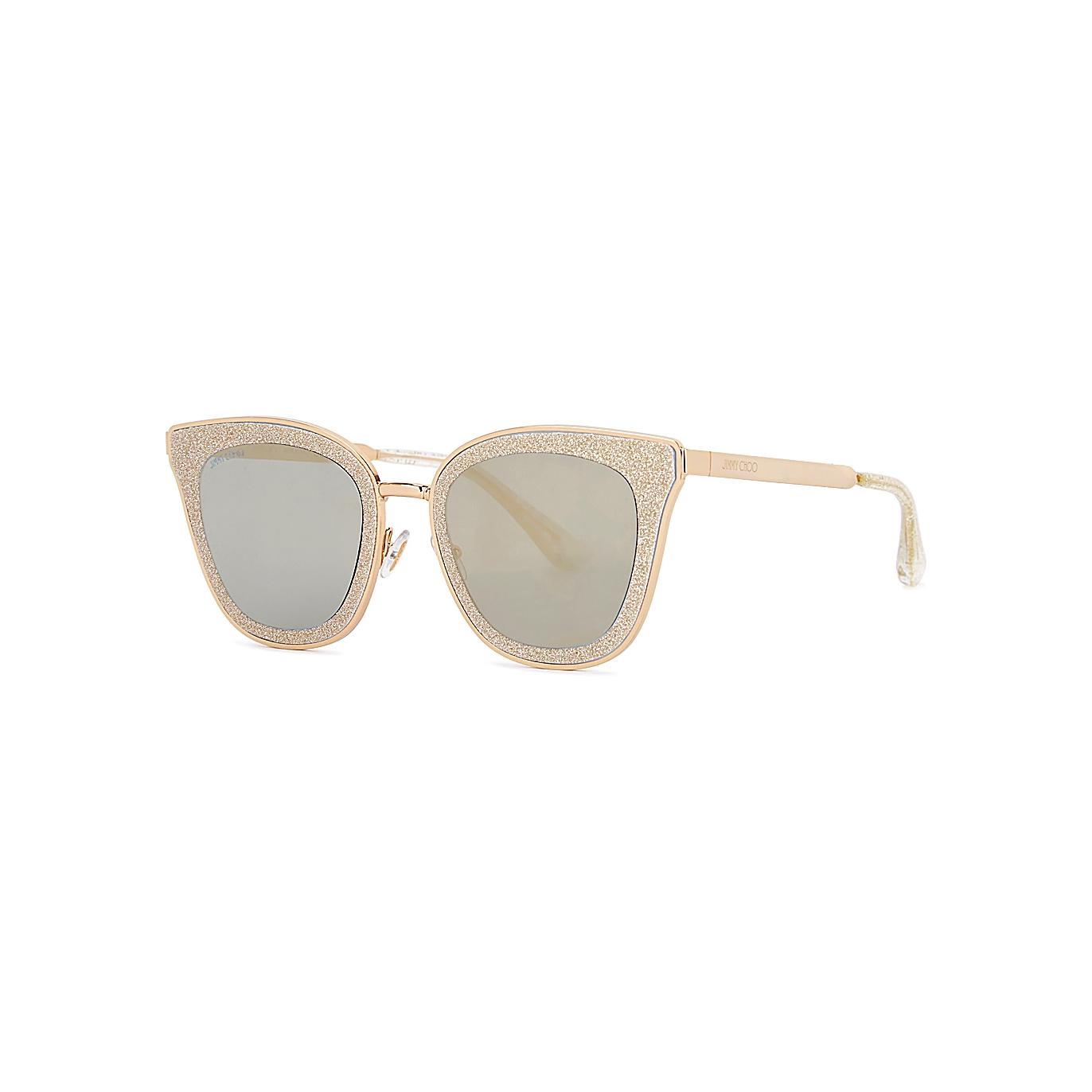 319b23b1d4 Jimmy Choo Lizzy glittered cat-eye sunglasses - Harvey Nichols