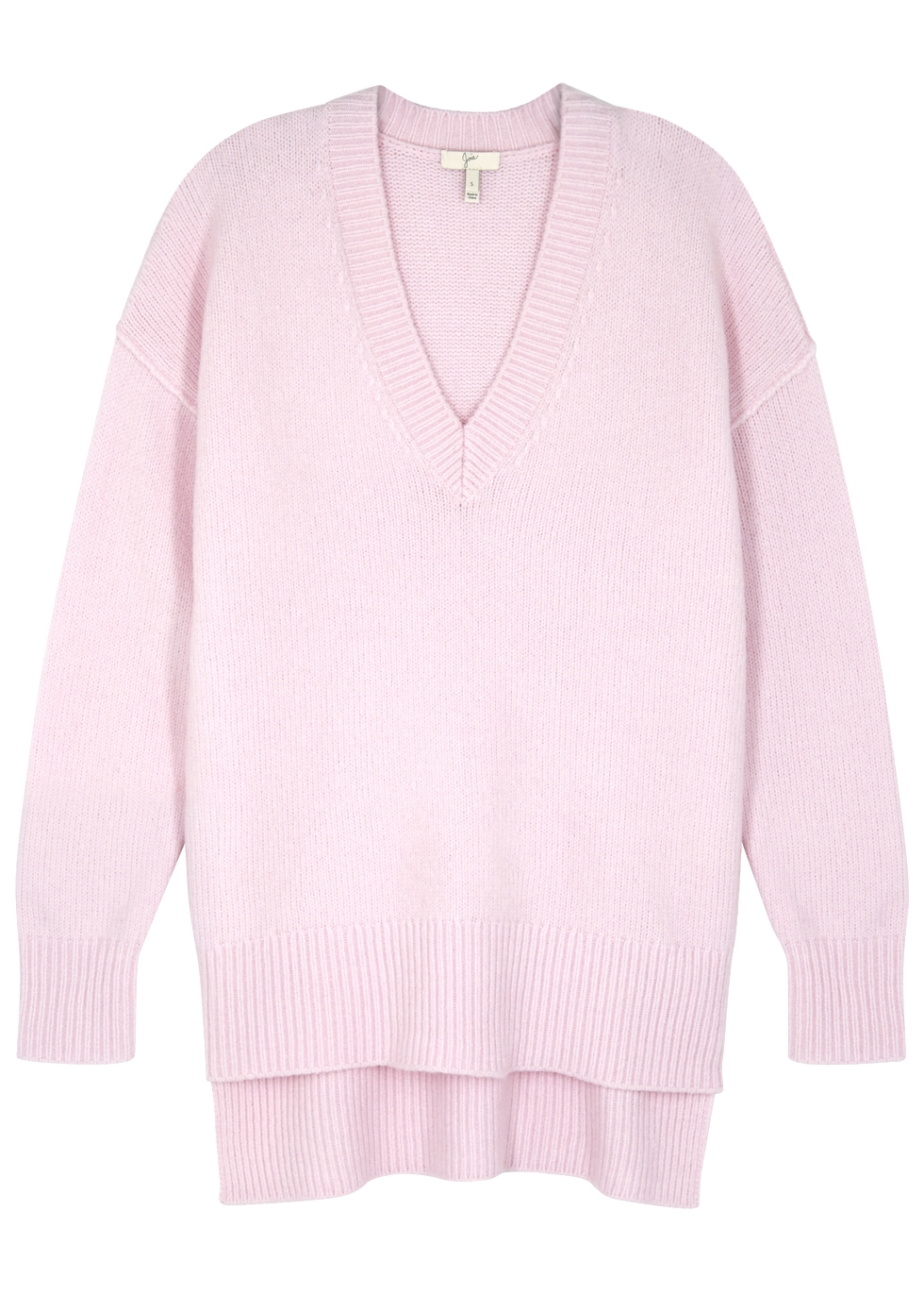 Limana V-Neck Long-Sleeve Wool-Blend Sweater in Lilac from Joie
