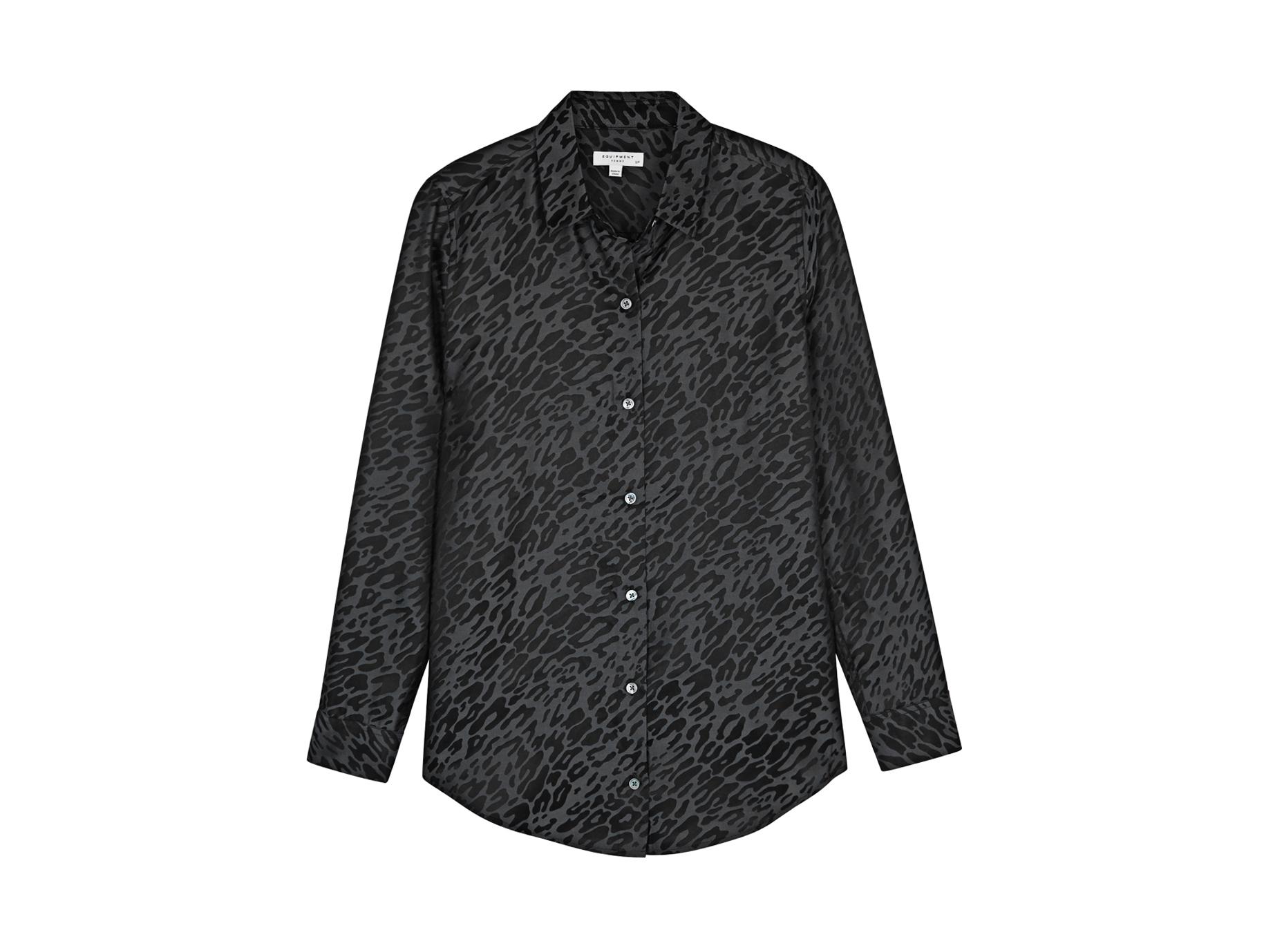 c098bbac4a1024 Equipment Essential leopard silk-blend shirt - Harvey Nichols