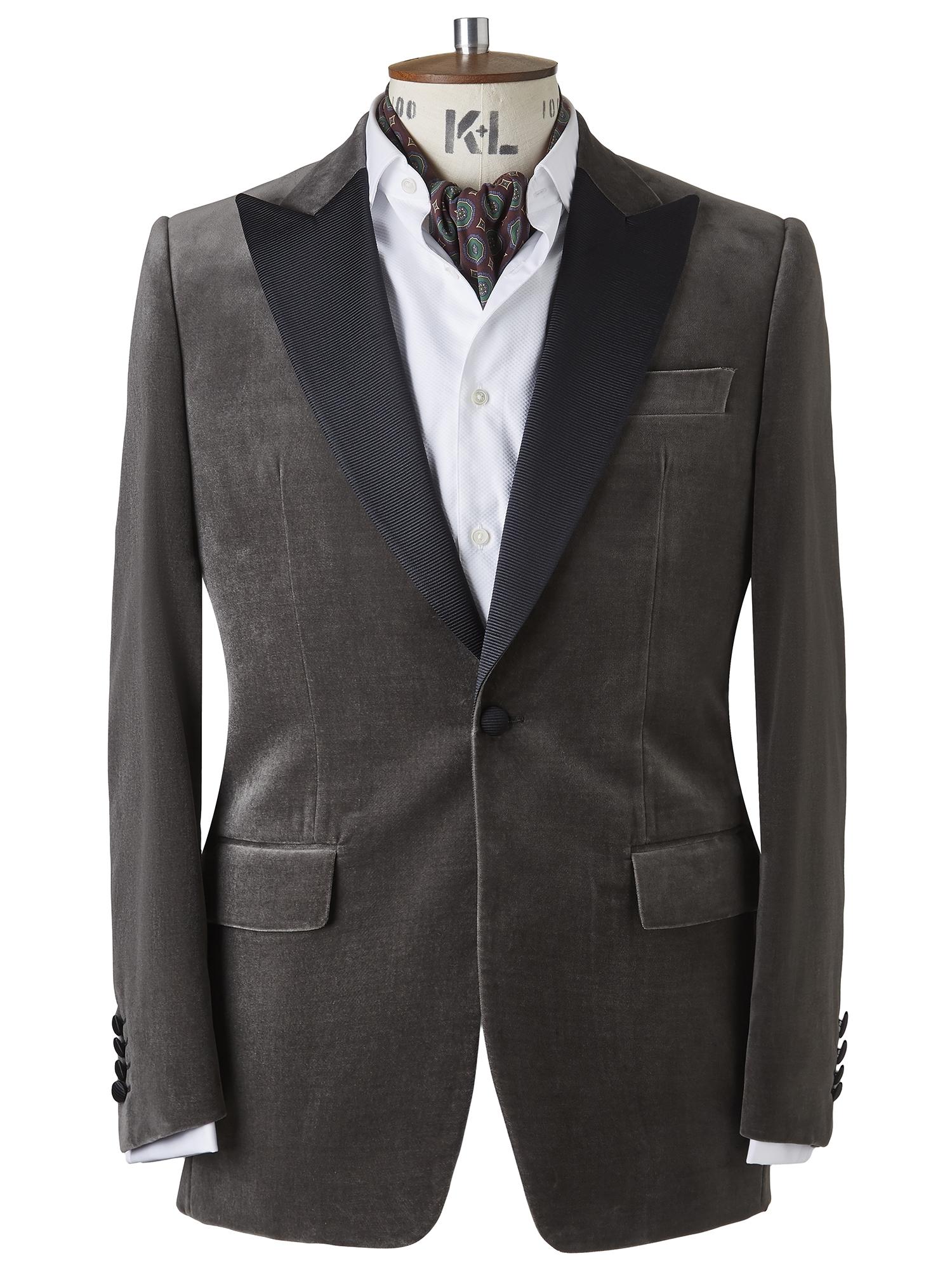 CHESTER BARRIE Plain Velvet Ebury Jacket