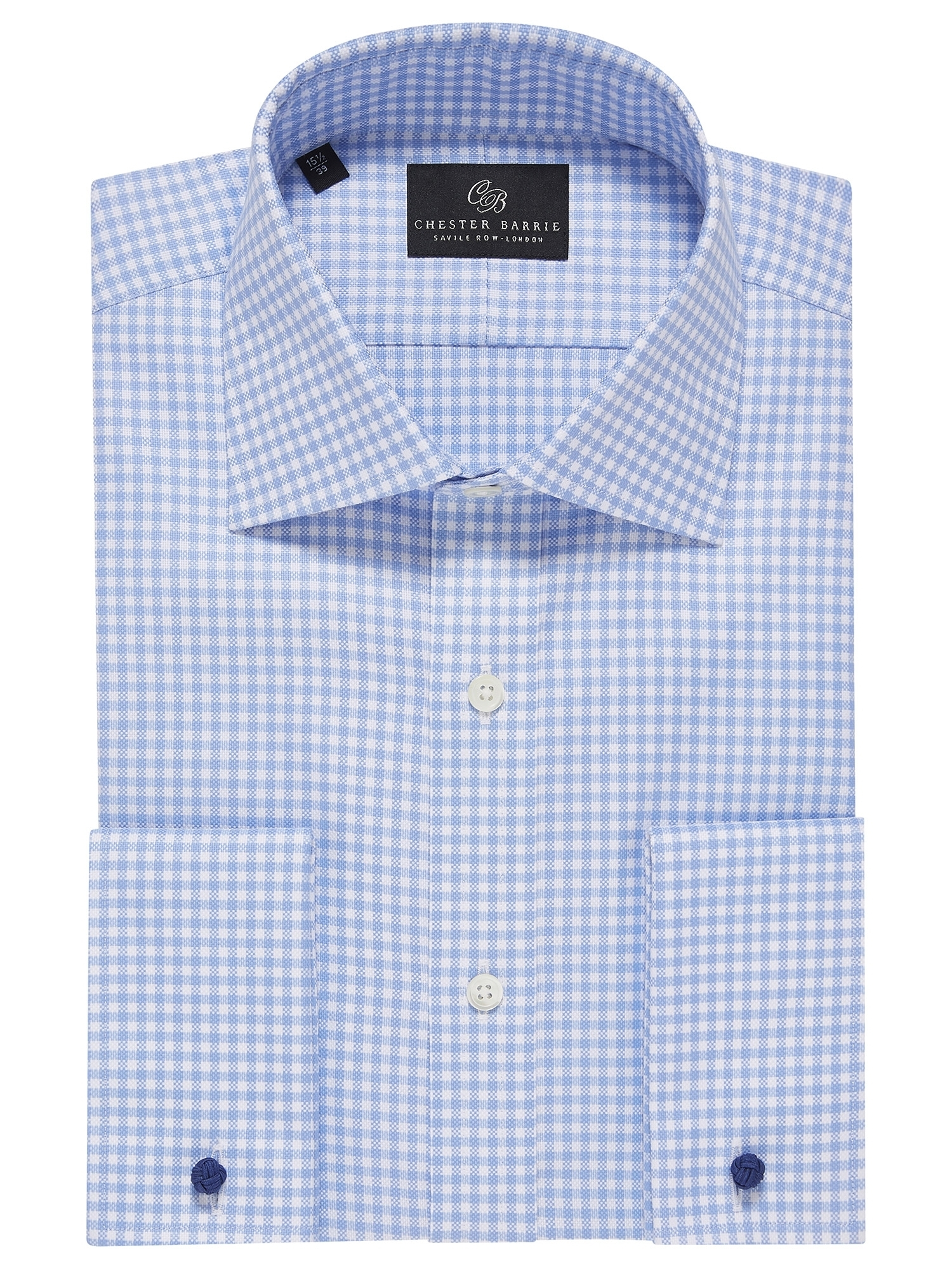 CHESTER BARRIE Oxford Gingham Check Shirt