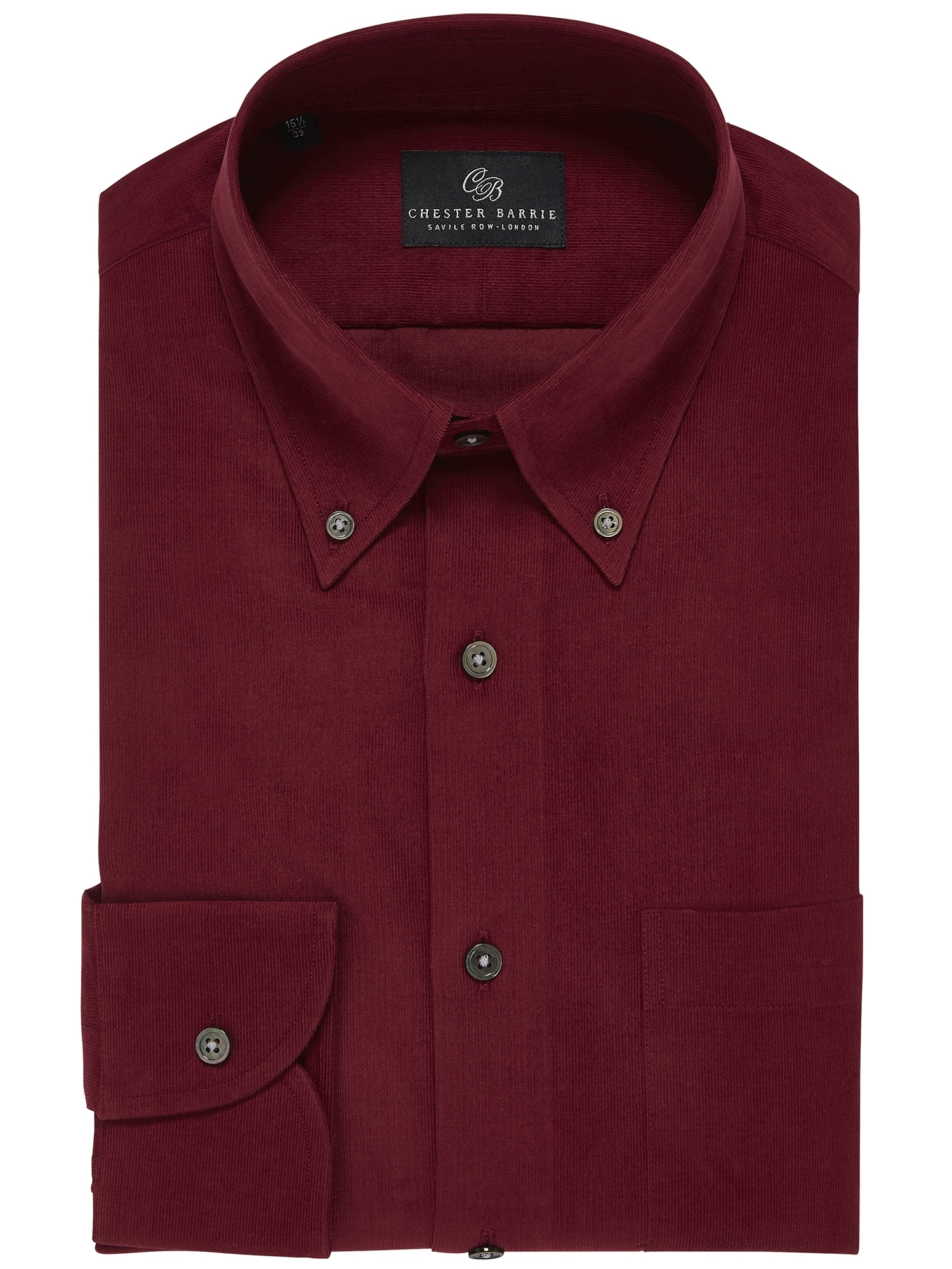 CHESTER BARRIE Baby Cord Shirt In Red