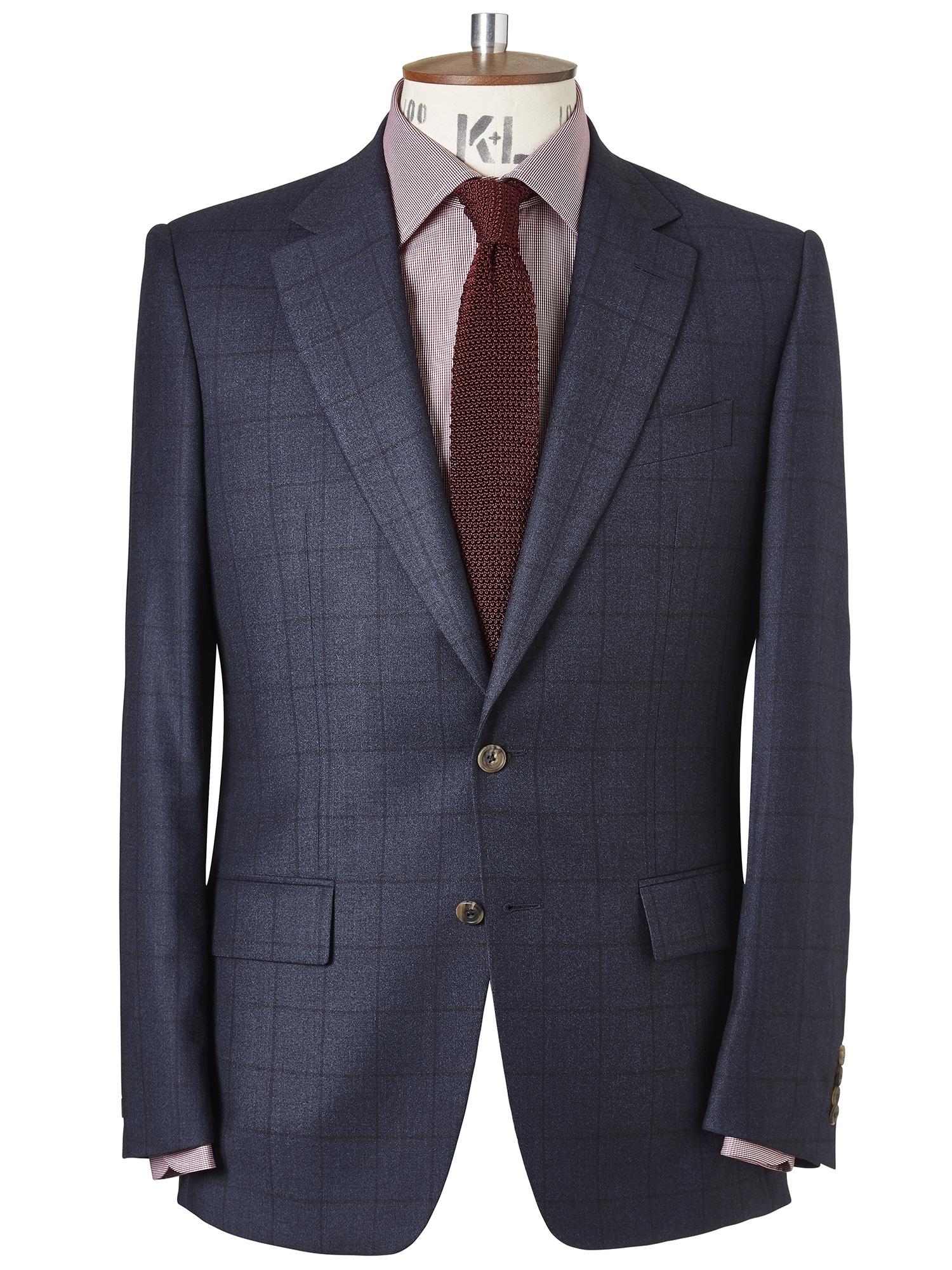 CHESTER BARRIE Windowpane Check Elverton Suit